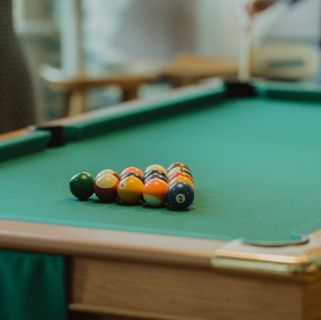 Our pool table is back in action!